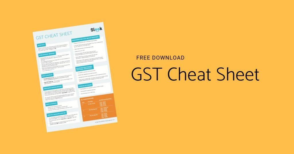 GST Cheat Sheet
