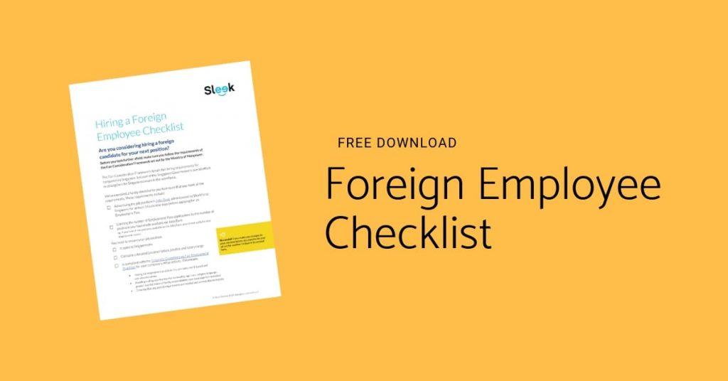 Foreign Employee Checklist